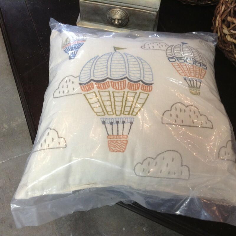 Hot Air Balloon Pillow.