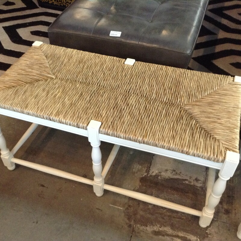 White Seagrass Bench.