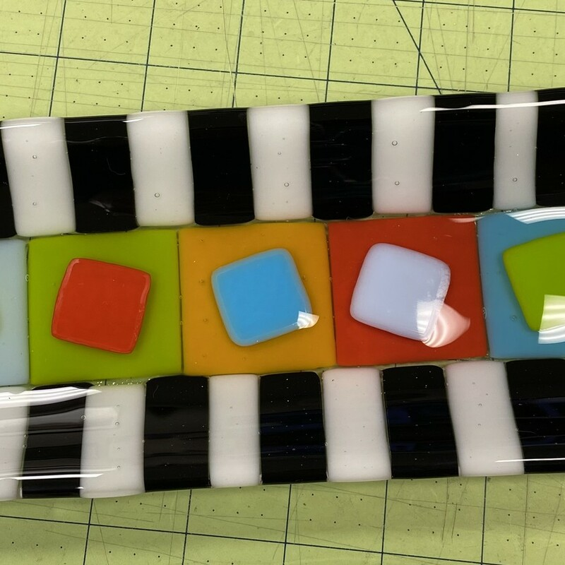 Fused Glass Tray.