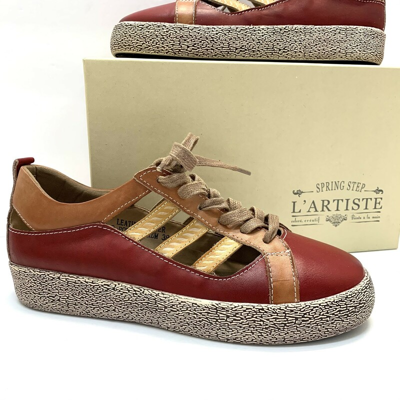 NEW Lartiste Shoes by Spring Step<br /> Porscha style<br /> Brick red & sienna<br /> Size: 7.5