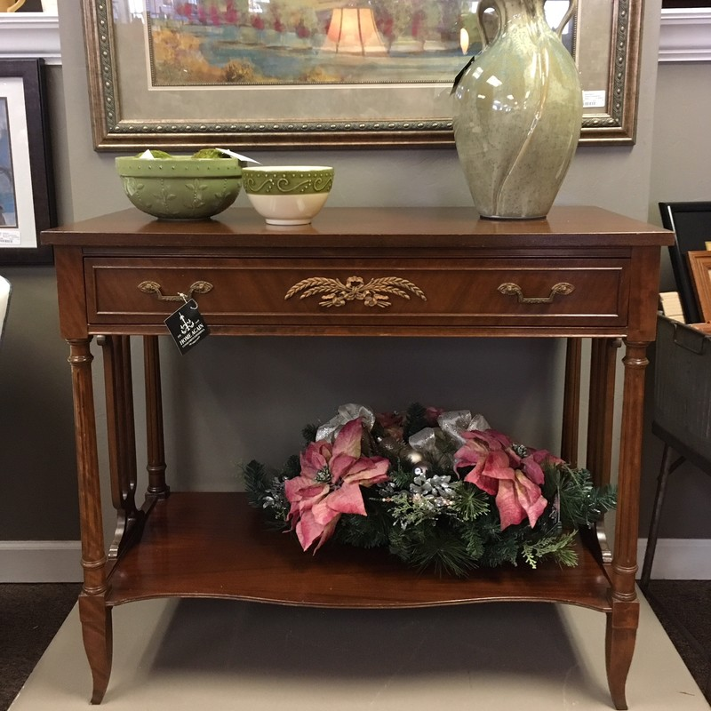 Well crafted antique sideboard table.  Made in Sheboygan.