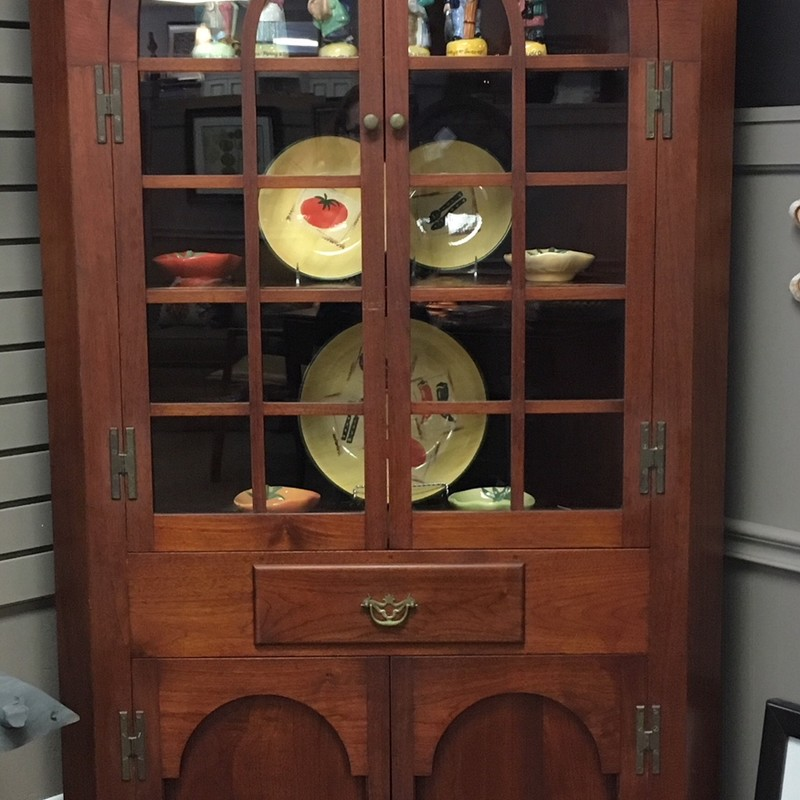 1937 Victorian Corner Hutch.  Beautiful unique piece.