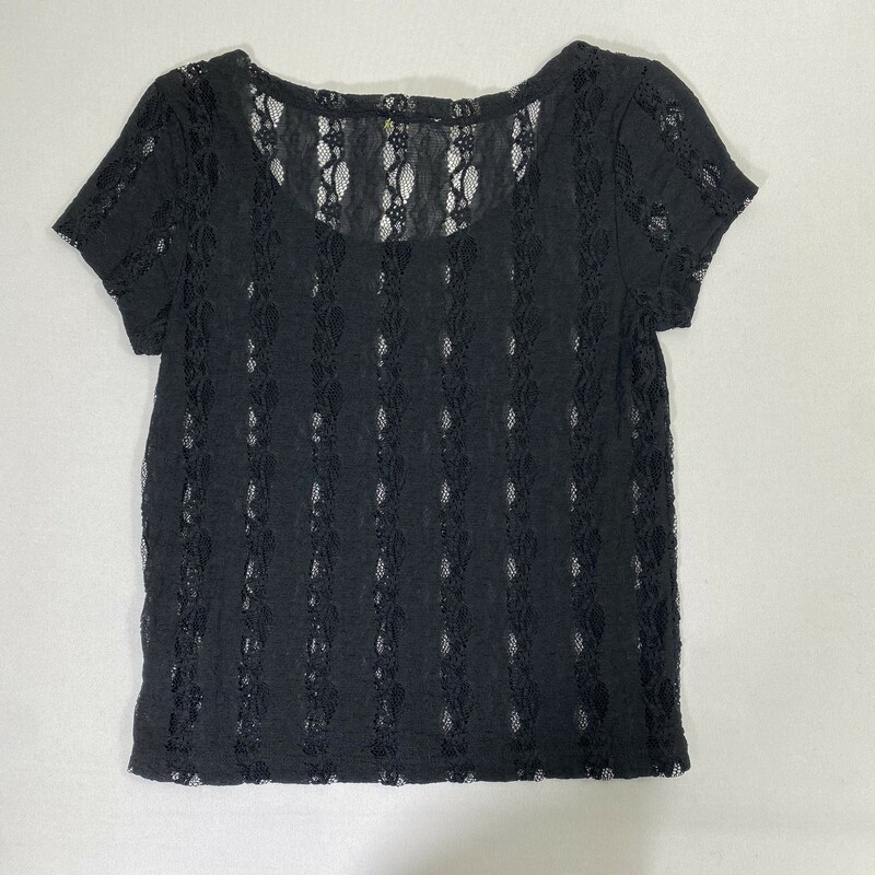 102-228 Forever 21 Lace T, Black, Size: Medium