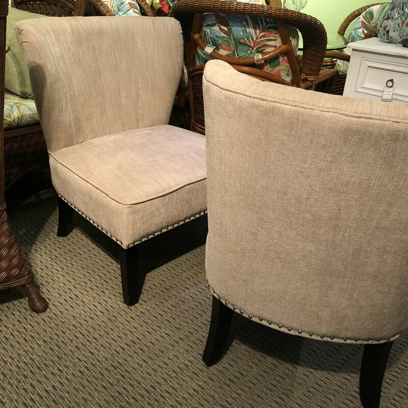 Taupe Accent Chair.