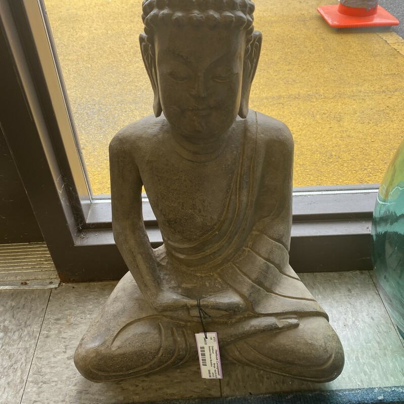 Seated Stone Buddha.