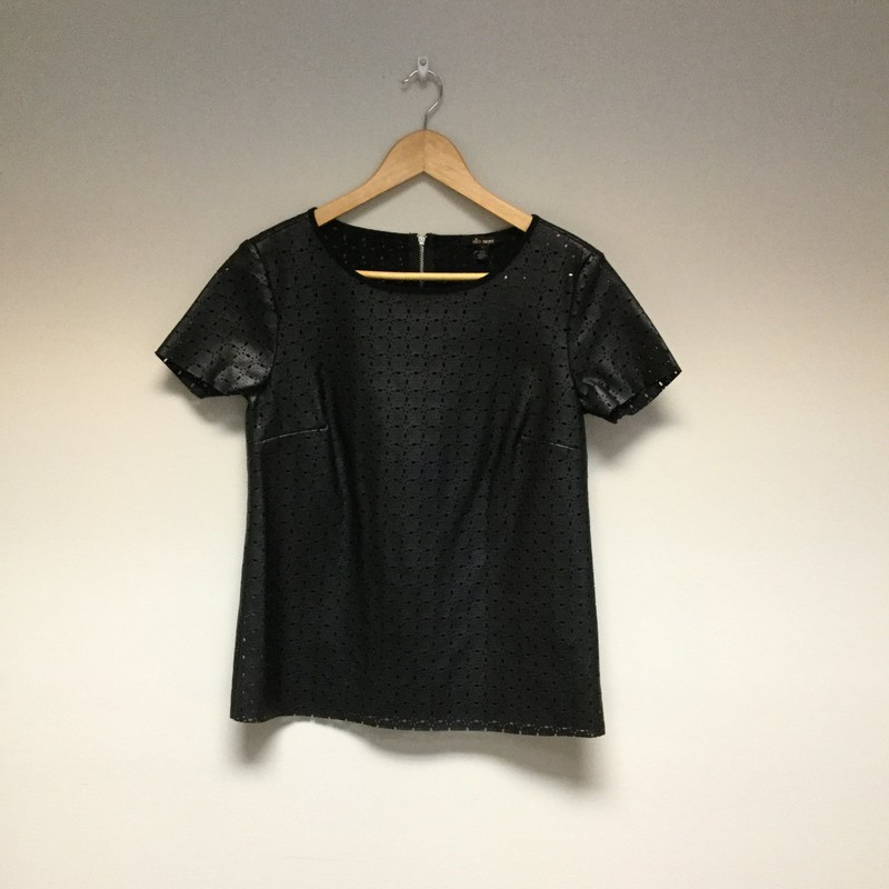 Ella Moss Faux Leather Top<br /> Size XS<br /> Black<br /> $18.50