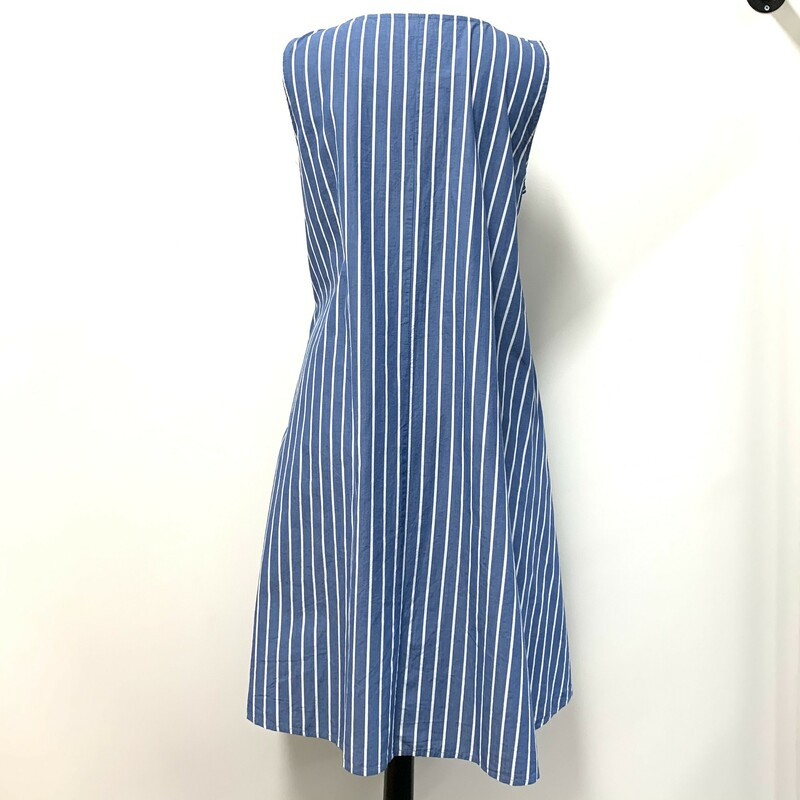Tulip Dress<br /> With pockets<br /> Sleeveless<br /> Blue & white striped