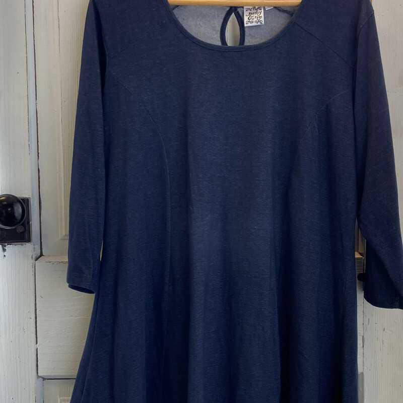 Nvy Heather Top.