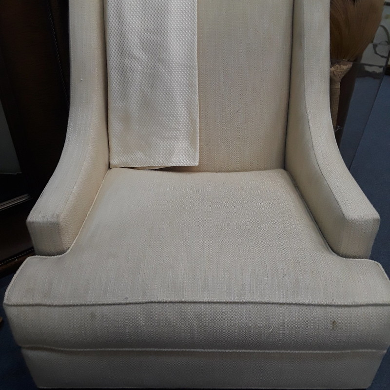 Ethan Allen Arm Chair, Ivory, Size: None