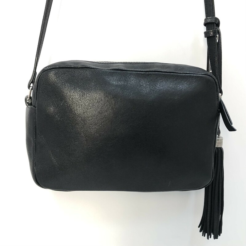 YSL Black Leather Lou Crossbody, $899.99