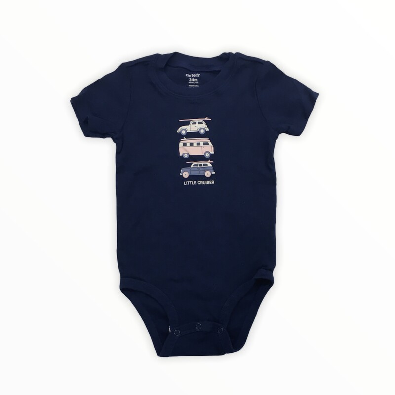 Onesie, Boy, Size: 24m<br /> <br /> #resalerocks #carters #pipsqueakresale #vancouverwa #portland #reusereducerecycle #fashiononabudget #chooseused #consignment #savemoney #shoplocal #weship #keepusopen #shoplocalonline #resale #resaleboutique #mommyandme #minime #fashion #reseller                                                                                                                                      Cross posted, items are located at #PipsqueakResaleBoutique, payments accepted: cash, paypal & credit cards. Any flaws will be described in the comments. More pictures available with link above. Local pick up available at the #VancouverMall, tax will be added (not included in price), shipping available (not included in price), item can be placed on hold with communication, message with any questions. Join Pipsqueak Resale - Online to see all the new items! Follow us on IG @pipsqueakresale & Thanks for looking! Due to the nature of consignment, any known flaws will be described; ALL SHIPPED SALES ARE FINAL. All items are currently located inside Pipsqueak Resale Boutique as a store front items purchased on location before items are prepared for shipment will be refunded.