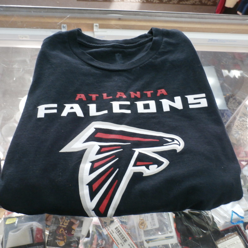 "NFL Pro Line Atlanta Falcons Black Men's Shirt Size Medium 100% Cotton #28429<br /> Rating:   (see below) 1- Excellent Condition<br /> Team: Atlanta Falcons<br /> Player: Team<br /> Brand: NFL Pro Line<br /> Size: Medium;  - Men's (Measured Flat: Across chest 18"", length 25"")<br /> Measured Flat: arm pit to arm pit; top of shoulder to the hem<br /> Color: Black<br /> Style: Screen pressed T-Shirt<br /> Material:  100% Polyester<br /> Condition: - 1 Excellent Condition - Few Wrinkles Like brand new<br /> Item #: 28429<br /> Shipping: FREE"