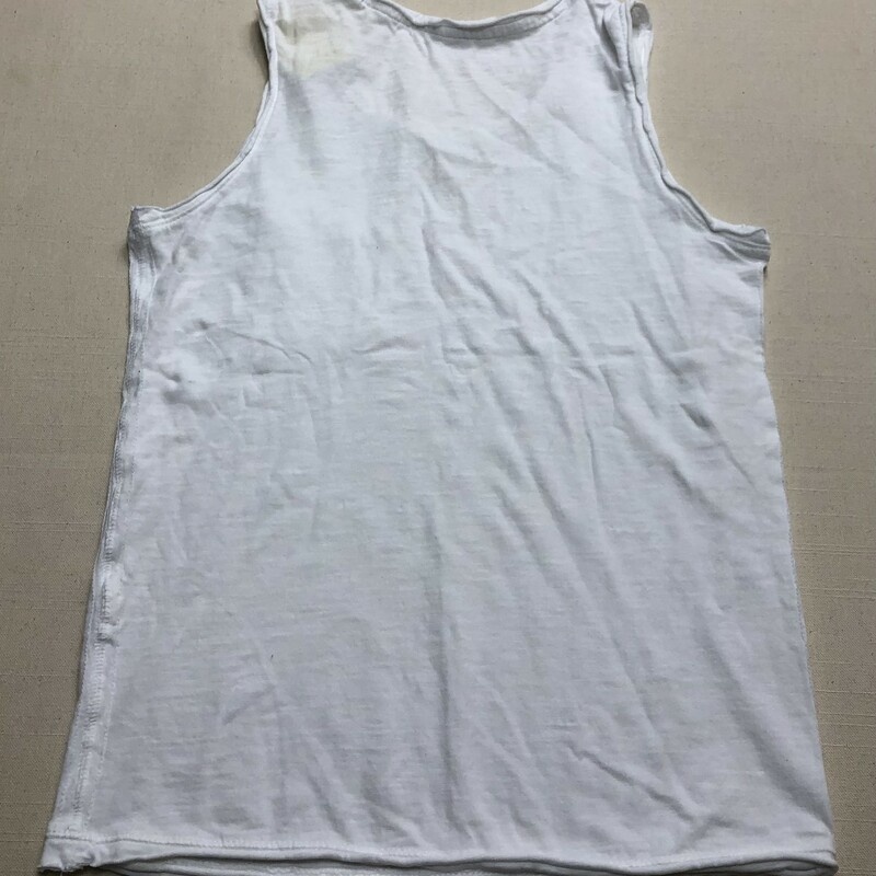 B Cotton Tank Top, White, Size: 8-9Y