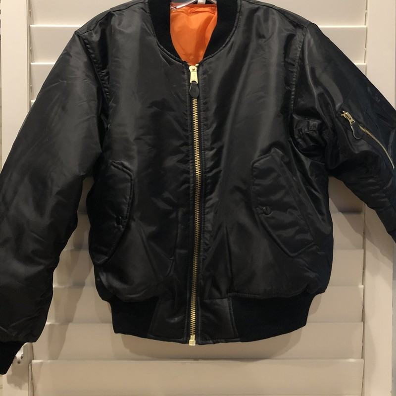 Vintage style Reversible Nylon Jacket. Reverse is orange. Fine construction, designer unknown