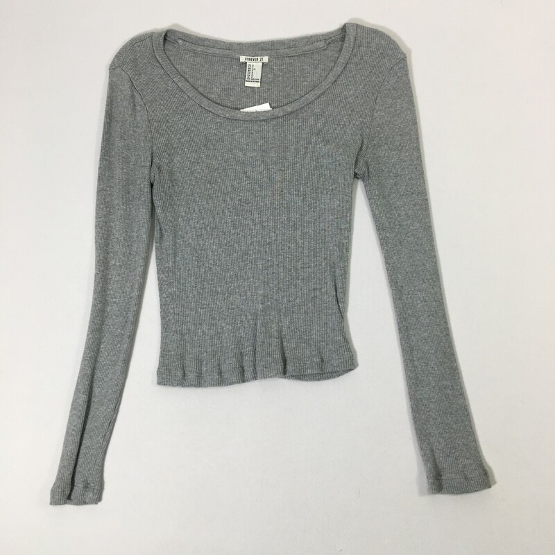 100-449 Forever 21, Blue, Size: Small<br /> Long sleeve ribbed top