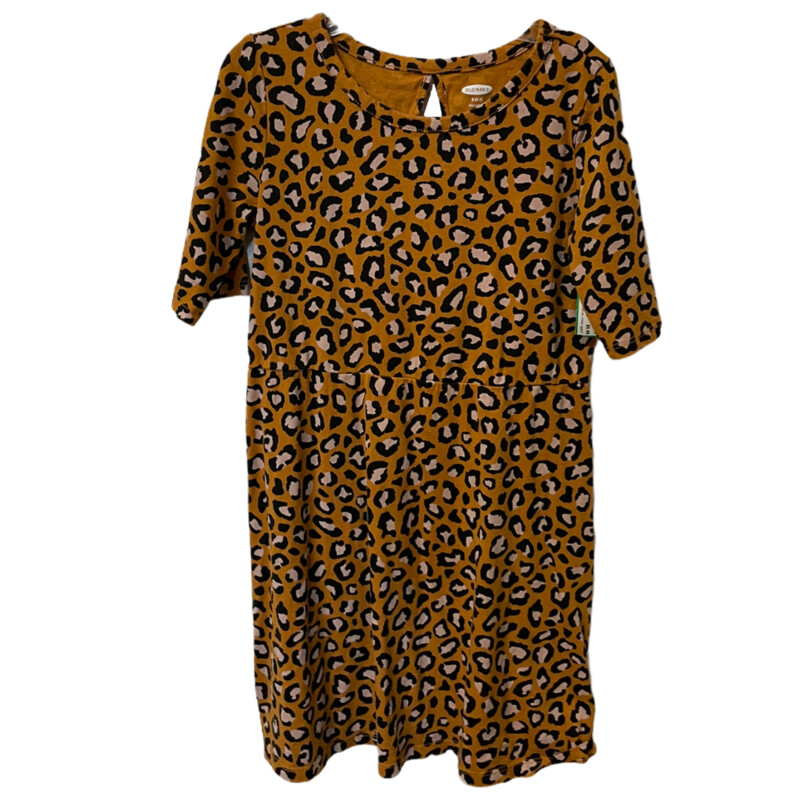 -Leopard print<br /> -1/2 sleeves<br /> -Size small (6/7)