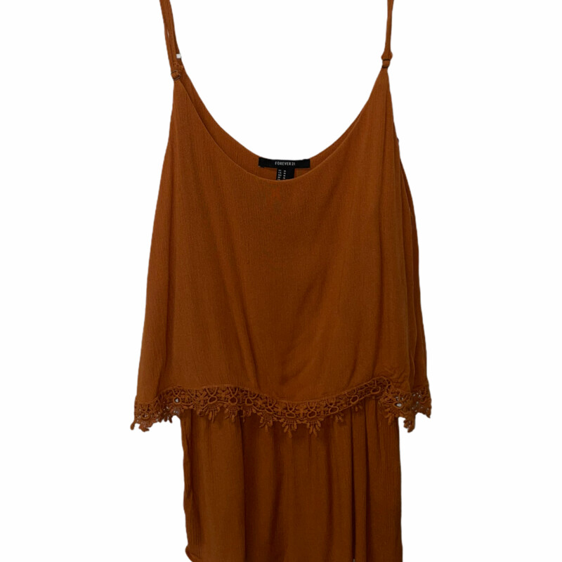 Burnt Orange Romper.
