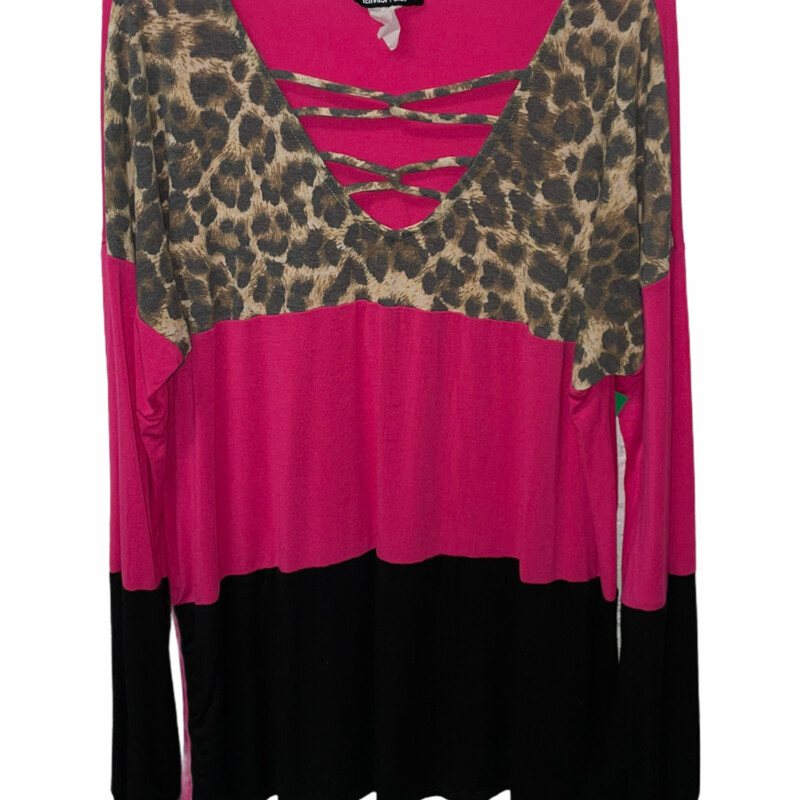 Pink And Leopard Long Sle.