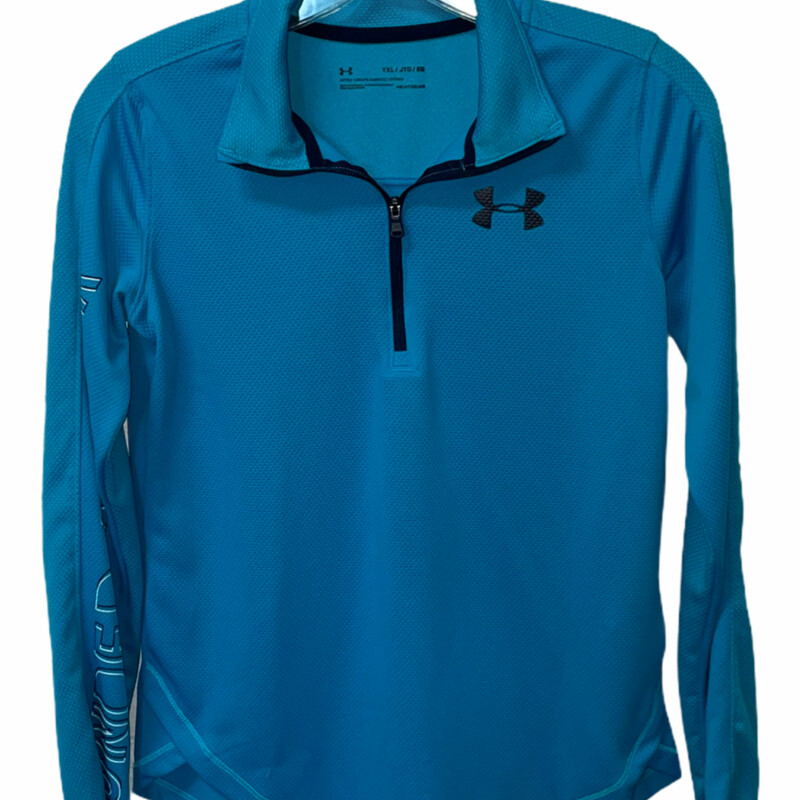 -Under Armour<br /> -Light blue<br /> -Long sleeve<br /> -Quarter zip<br /> -Youth extra large