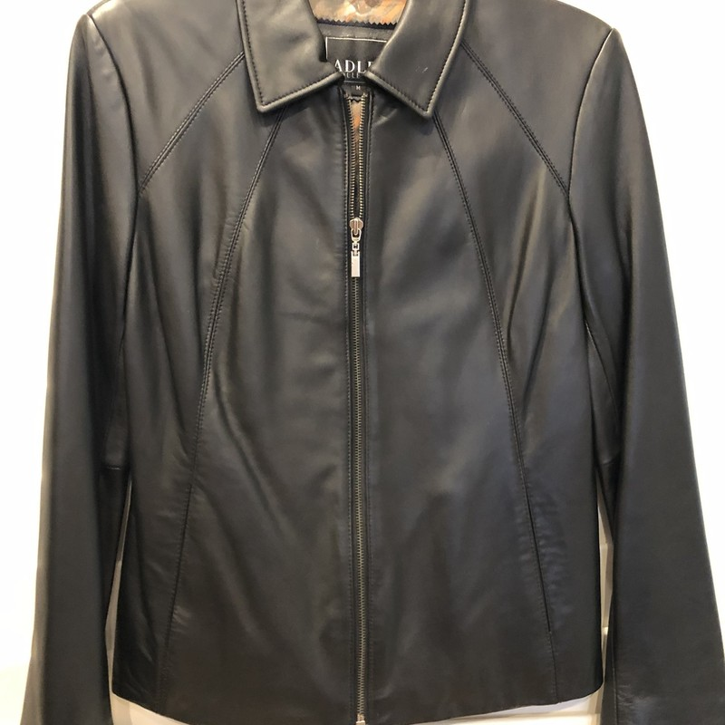 excellent condition! Adler soft leather jacket zip front