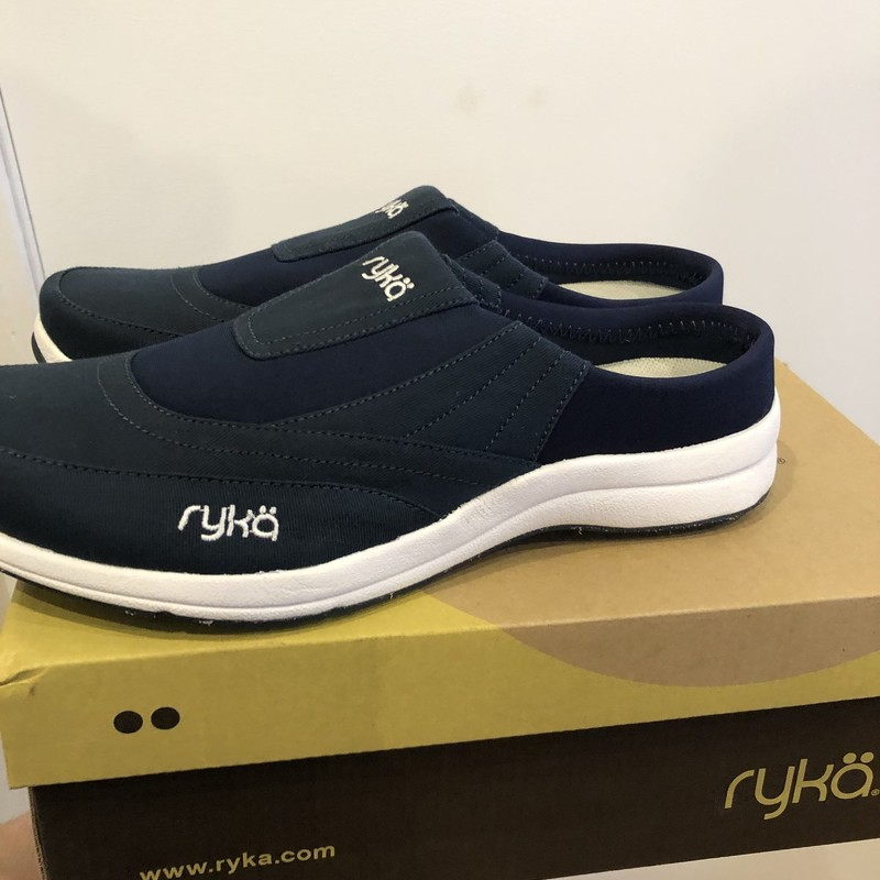 Ryka orthopedic shoes new in Box size 10. Navy blue