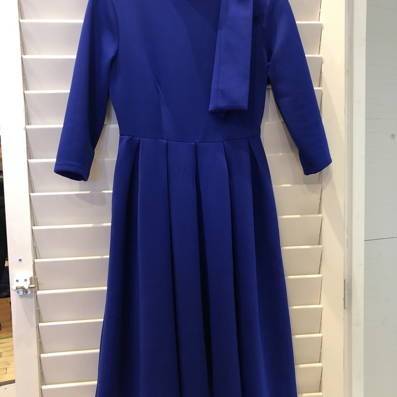 No label inside. Stretch fabric. Royal Blue Bow Dress is size small
