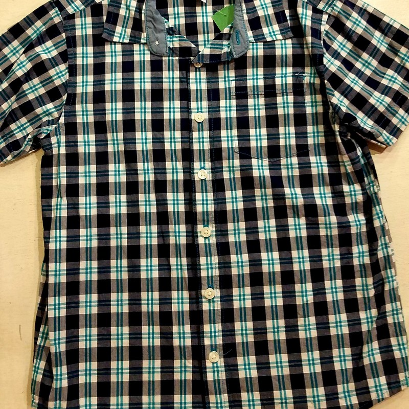 Gymboree Button Up Short Sleeve, Size: 7-8