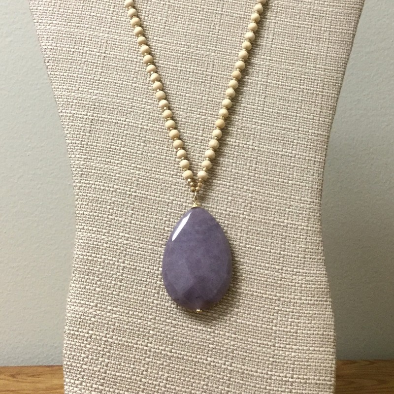 Quartz Pendant Necklace<br /> Size 32&#039;&#039;<br /> Purple<br /> $18.00