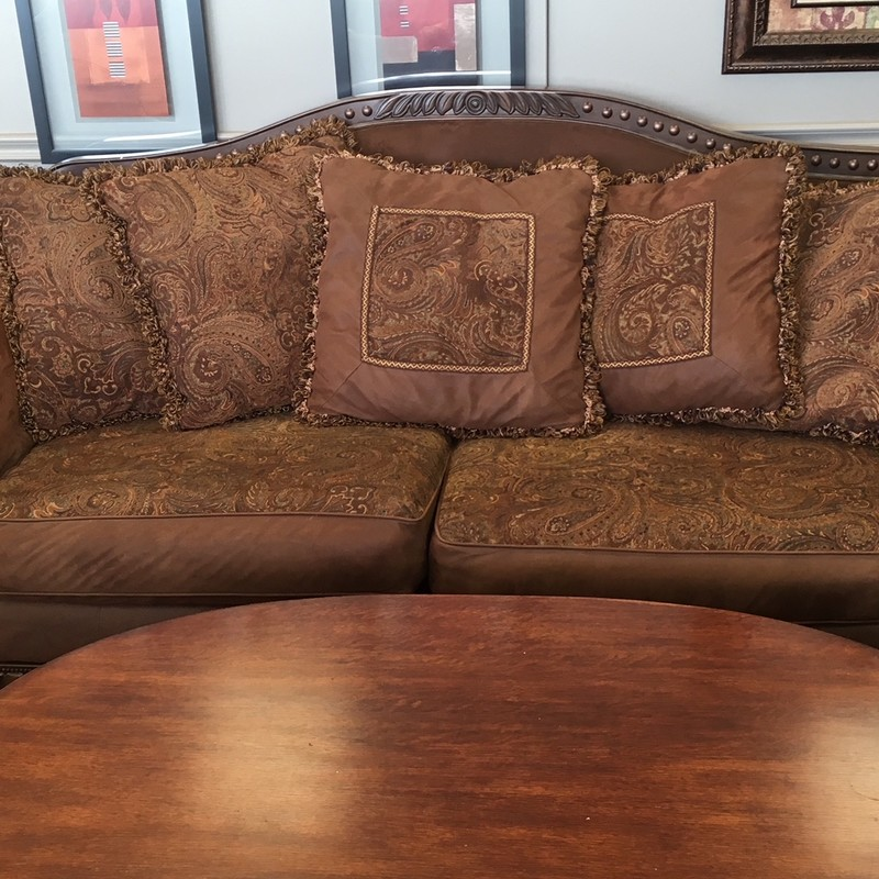 Brown microsuede Ethan Allen couch.  Love seat available to match.