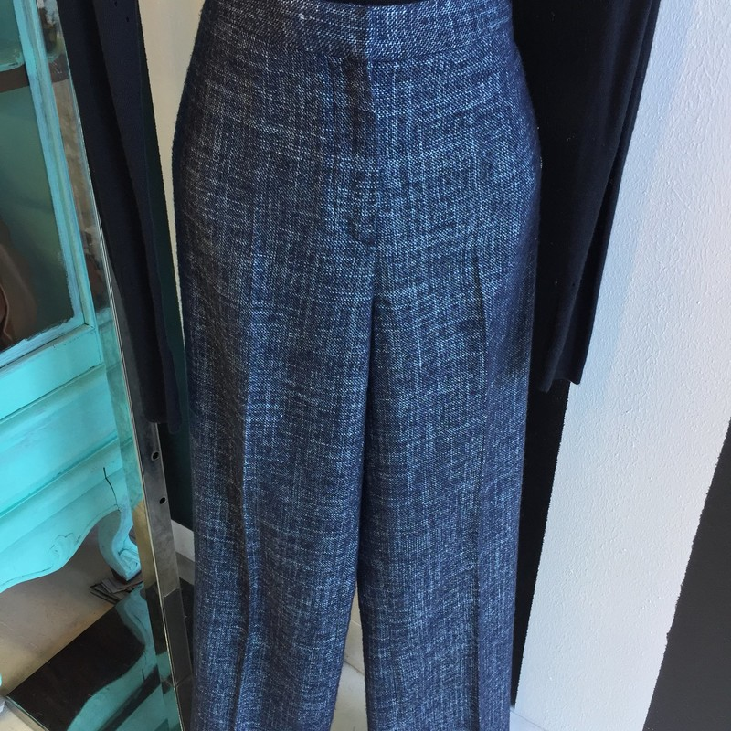 Agnona tweed pants, blue and white, size 6. Like new, retail: $900