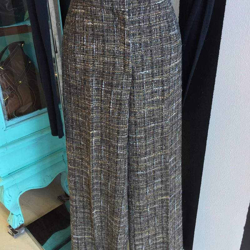 Agnona tweed pants, brown and white. Like new, size 4, retail: $900