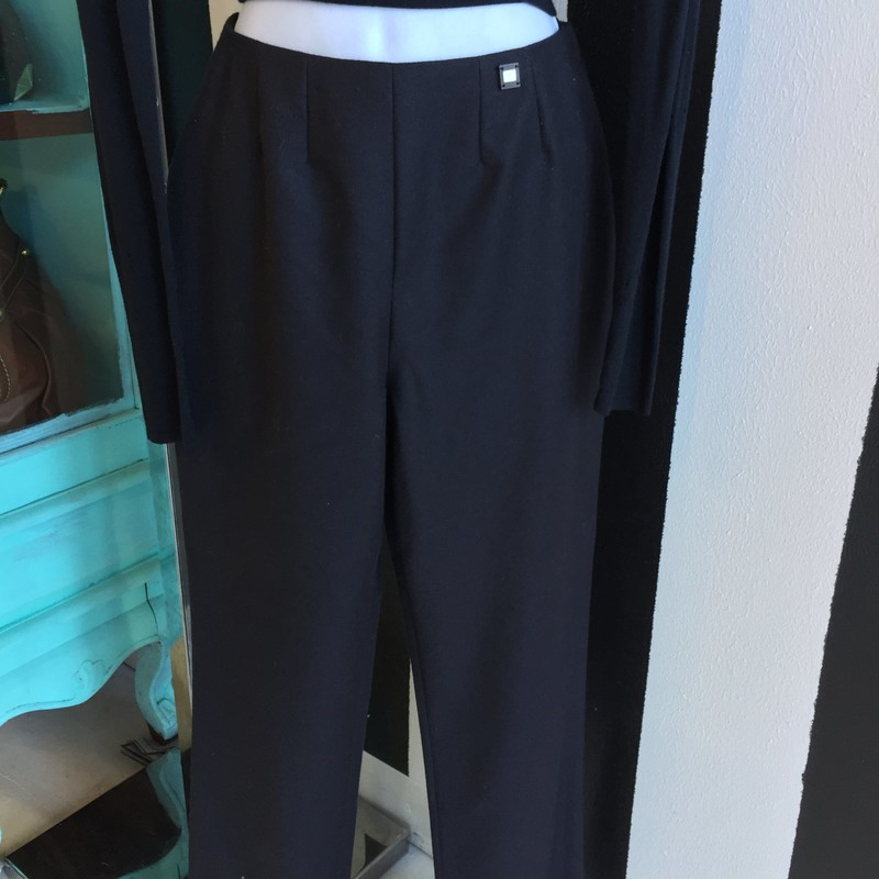 Black Chanel dress pants, gently used, size 4. Retail: $1,200