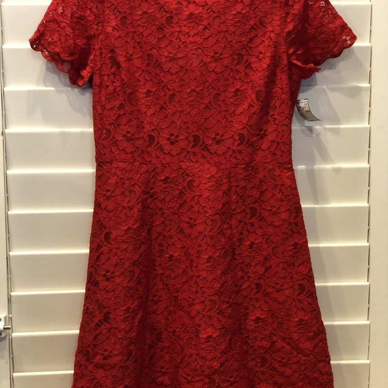 J Crew, Red Lace, Size: 4