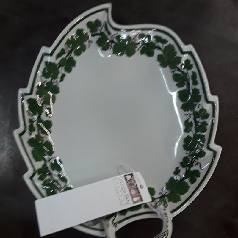 Green Leaf Tray With Vine, None, Size: None