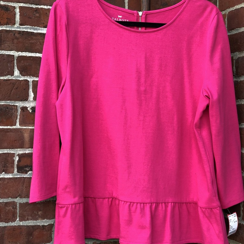 Talbots, Hot Pink, Size: Large<br /> Great layering piece.  Back zip to close.