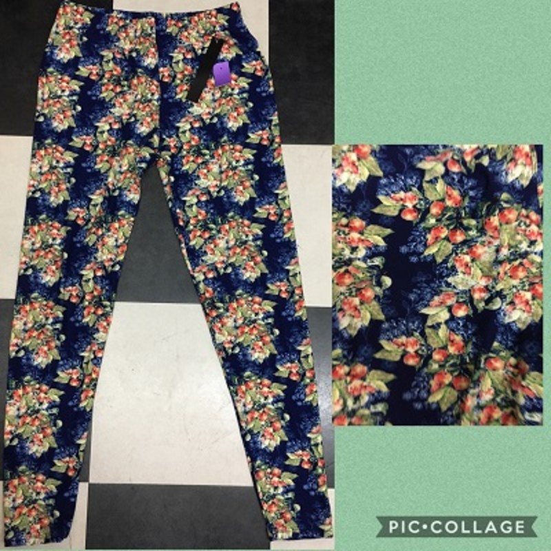 Get you a pair of our adorable soft Berry Bunches Print Leggings. They are super comfy and you cann wear them to any occasion. The material is made of 92% Polyester 8% Spandex with a length of 28.5in.