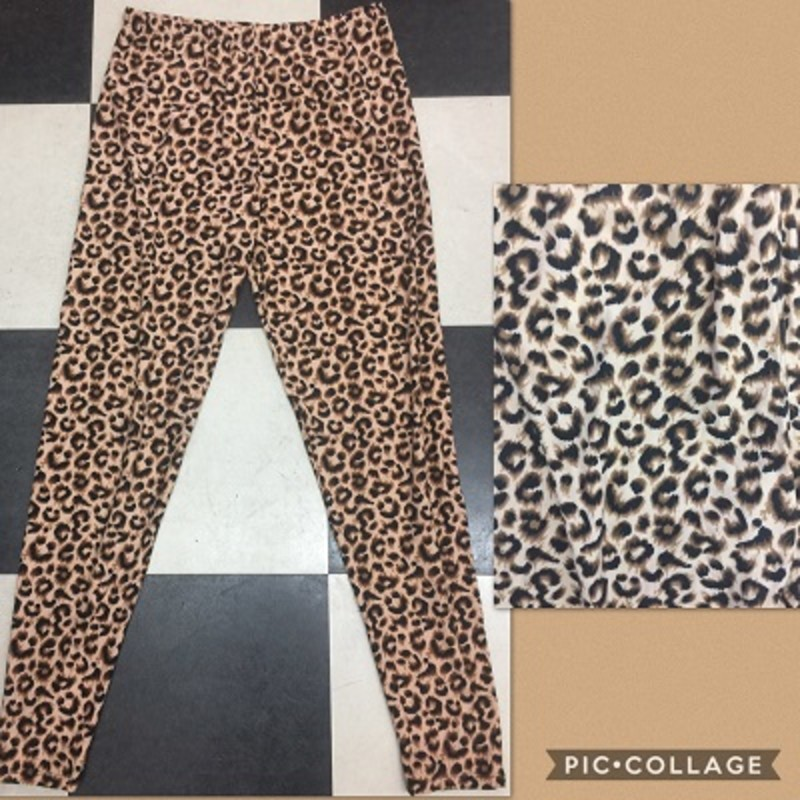 Get you a pair of our adorable soft Leopard Print Leggings. They are super comfy and you cann wear them to any occasion. The material is made of 92% Polyester 8% Spandex with a length of 28.5in.