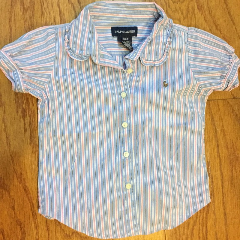 Ralph Lauren Shirt, Blue, Size: 4