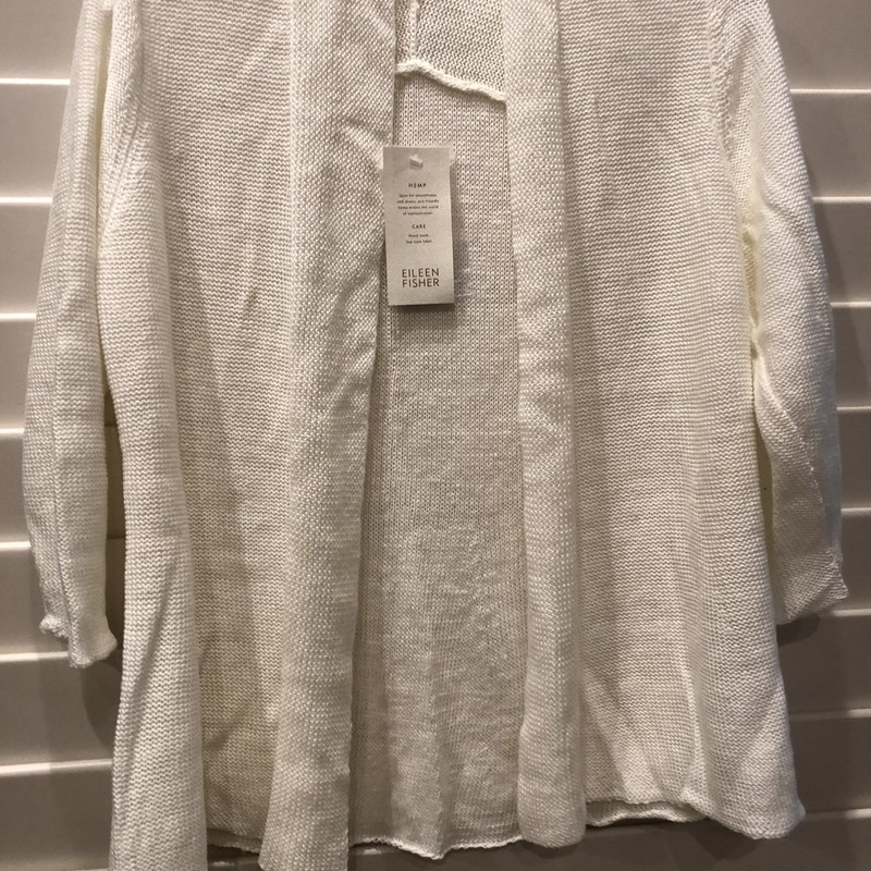 Eileen Fisher Cardigan NW, White, Size: Small