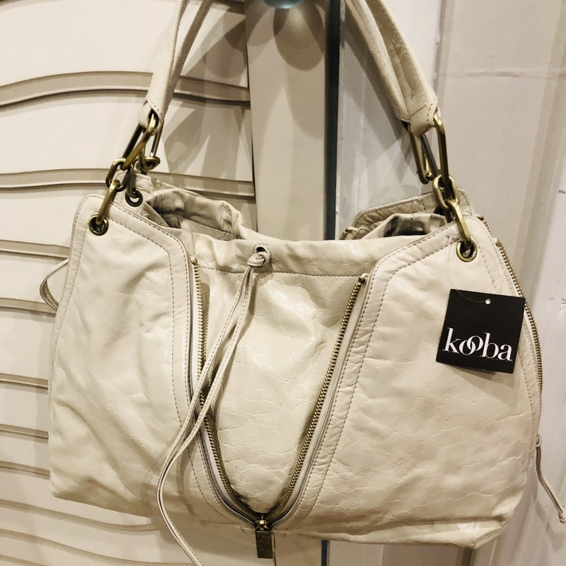 Kooba Tate Convertible NW, White, Size: Large<br /> unworn quality bag