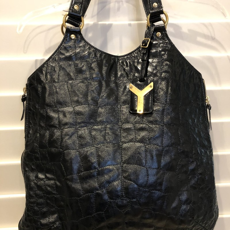 YSL Crocodile Hobo, Black, Size: .YSL<br /> very good condition