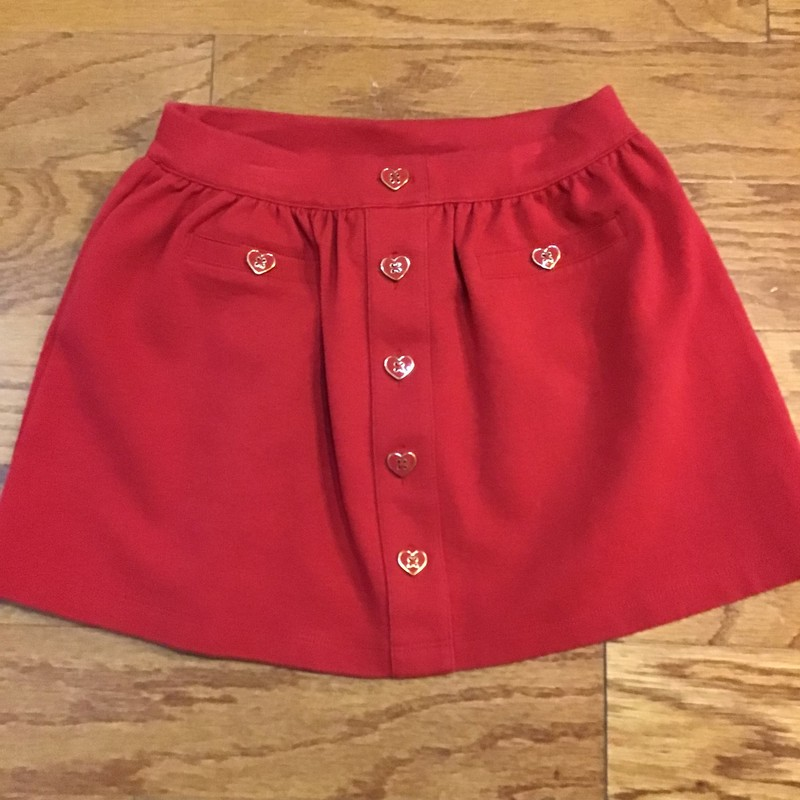Janie Jack Skirt, Red, Size: 5