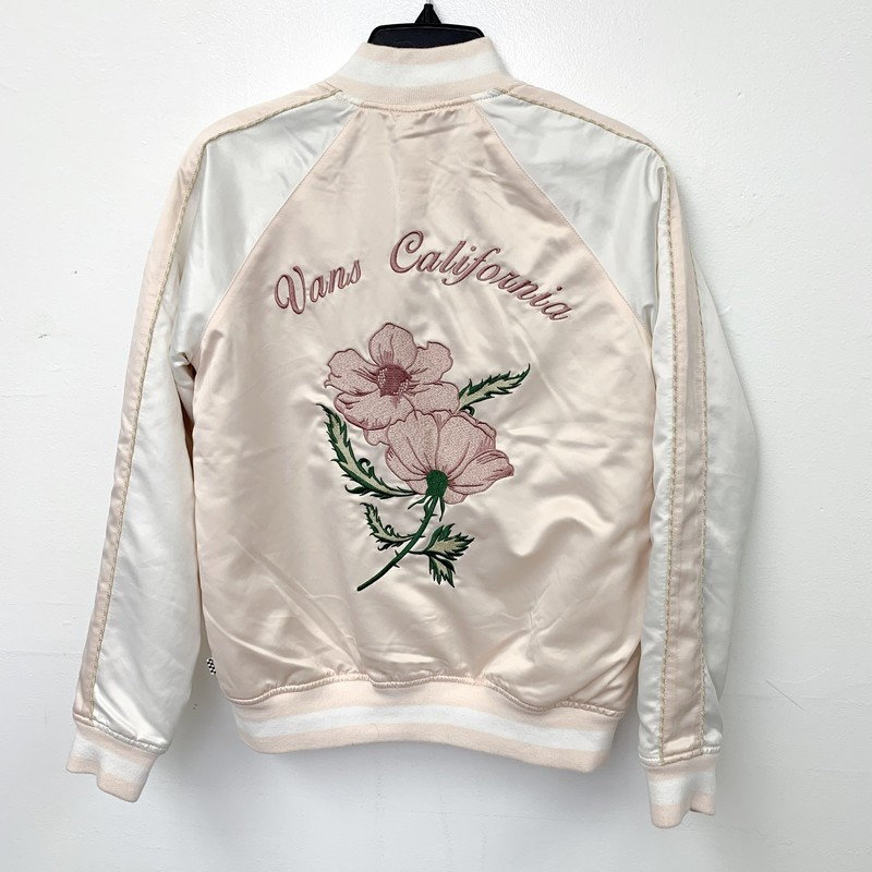 Excellent condition Vans Jacket<br /> Size XS<br /> Pink & white<br /> Materials: 100% polyester