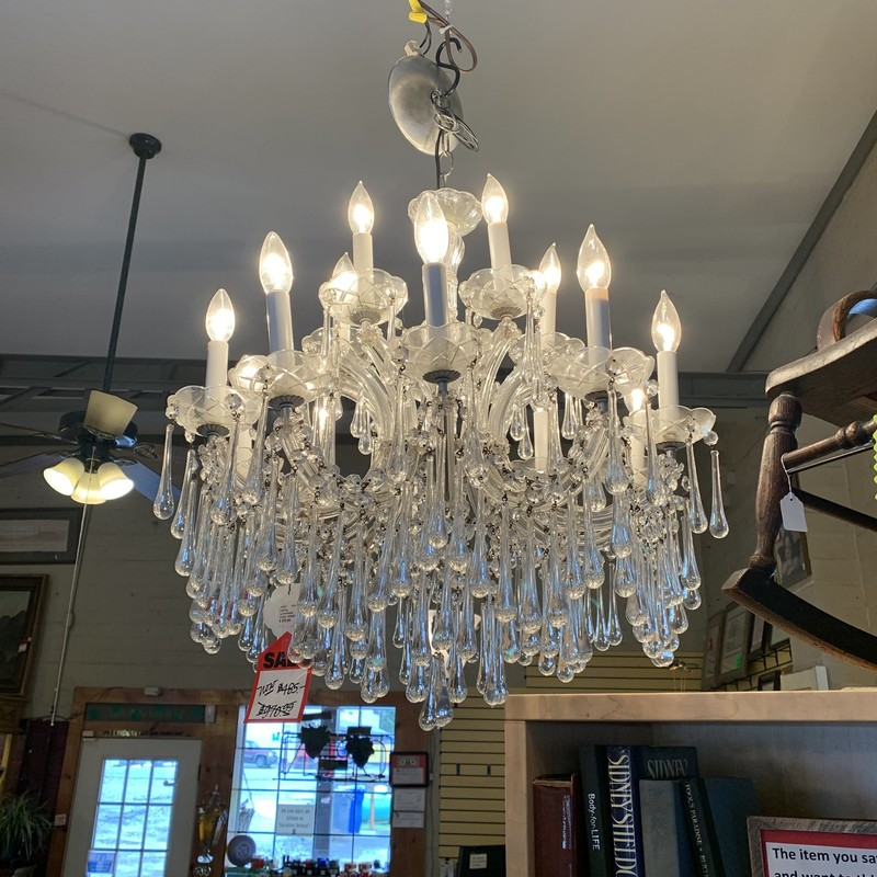 Large Crystal Chandelier