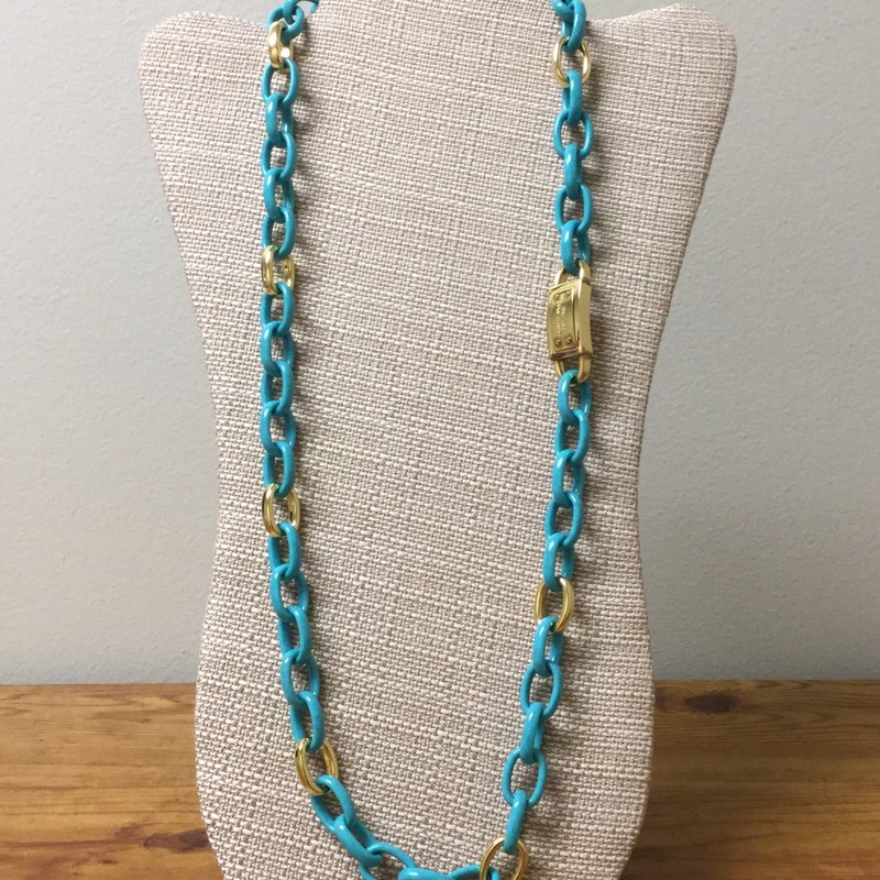 Michael Kors Necklace<br /> Size 15&quot;<br /> Color Turquoise/Gold<br /> Price $74.00
