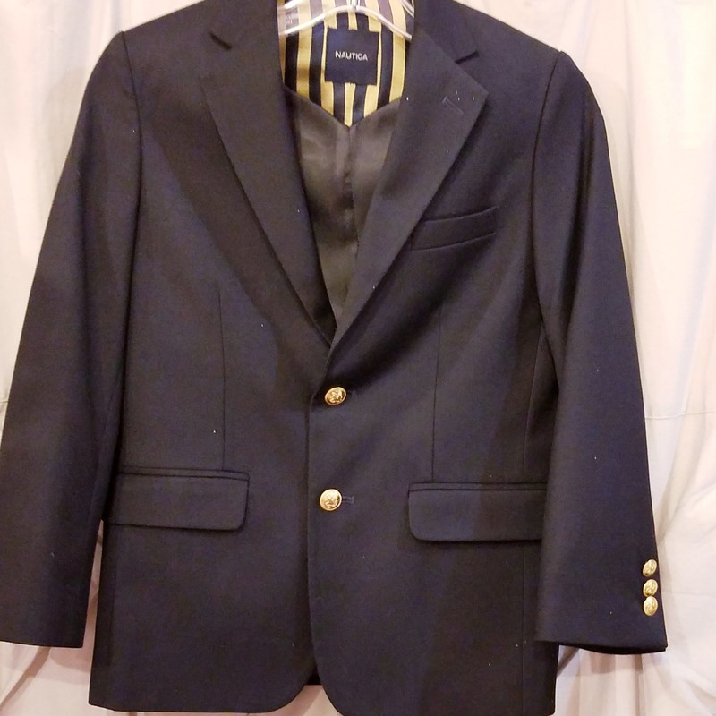 Nautica Suit Jacket, Black, Size: 10