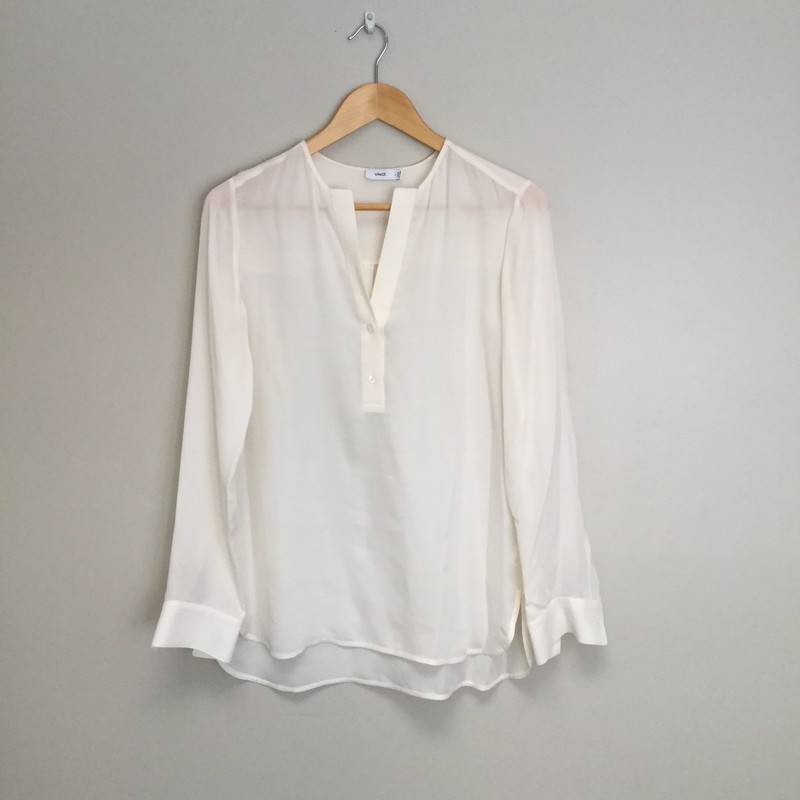 Vince Henley<br /> Size S<br /> White<br /> $35.00