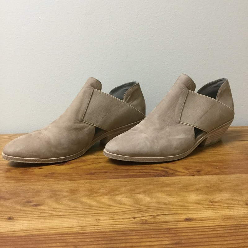 Eileen Fisher Slip On Booties<br /> Size 8.5<br /> Taupe<br /> $42.00