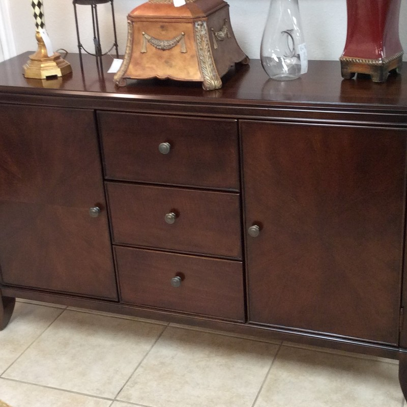 Isn't this a gorgeous piece? It features LOTS of storage, too! Best of all, however, there is also a matching table with 6 chairs, as well as a large china/display cabinet that are also available for purchase seperately!