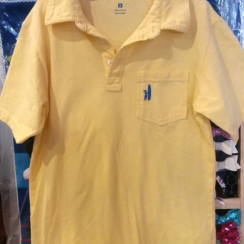 Johhnie O Polo, Yellow, Size: 8